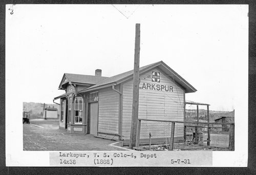 Atchison, Topeka & Santa Fe Railway Company depot, Larkspur, Colorado - Page
