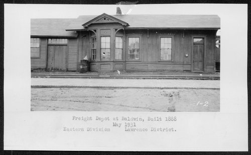 Atchison, Topeka and Santa Fe Railway Company's freight depot, Baldwin, Kansas - Page