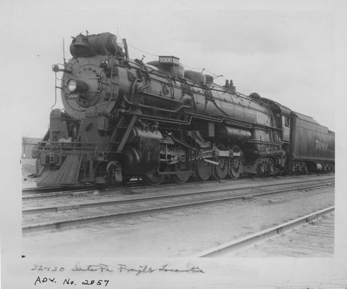 Atchison, Topeka & Santa Fe Railway Company's steam locomotive # 5000 Madam Queen - Page