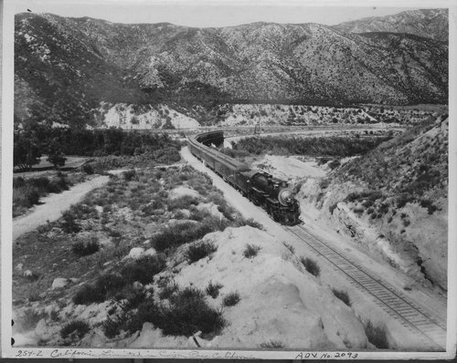 Atchison, Topeka & Santa Fe Railway Company's California Limited, Cajon Pass, California - Page