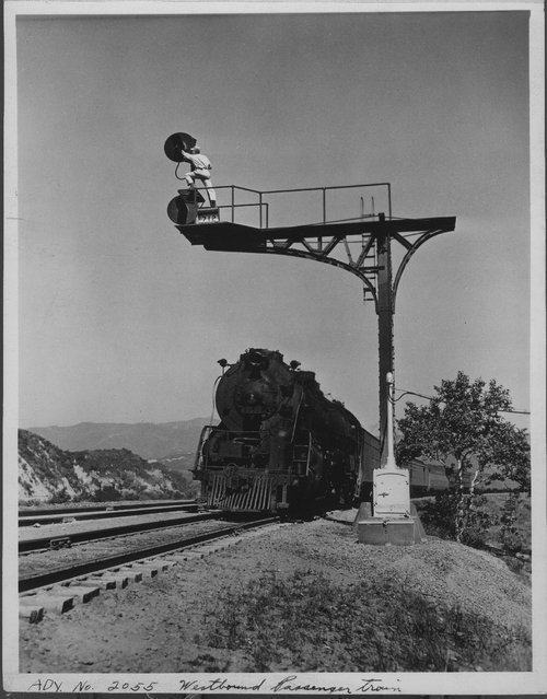 Westbound passenger train In Cajon Pass, California - Page