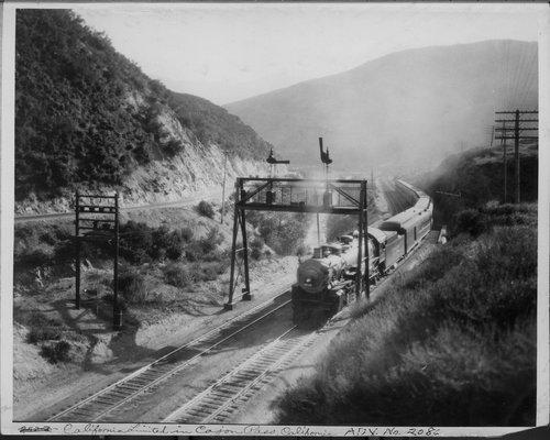 Atchison, Topkea & Santa Fe Railway Company's California Limited, Cajon Pass, California - Page