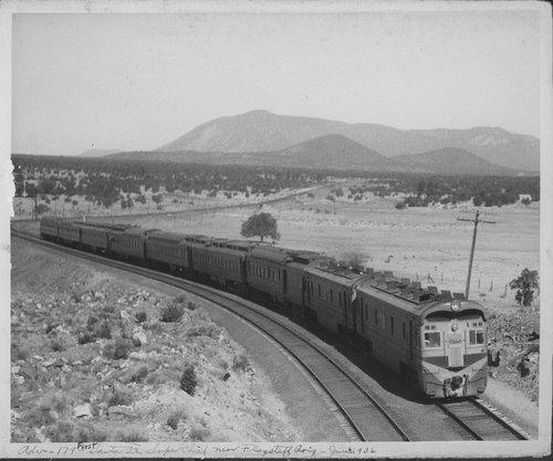 Eastbound Super Chief passenger train, Winona, Arizona - Page