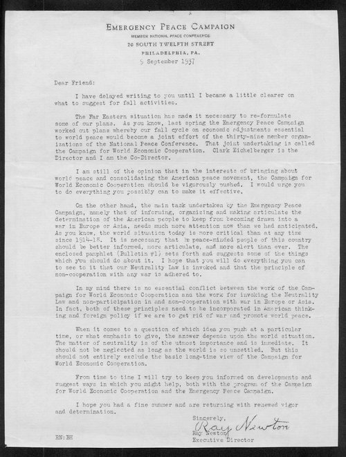 Ray Newton to Arthur Capper - Page