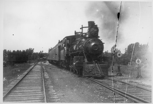 Atchison, Topeka & Santa Fe steam engine and passenger train - Page