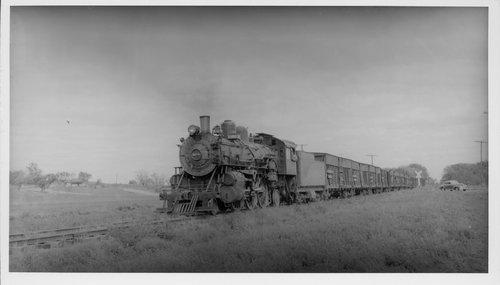 Atchison, Topeka & Santa Fe stock train on Alma Branch, Burlingame, Kansas - Page