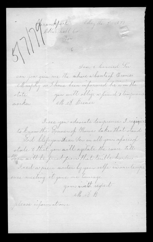 M.A. Brewer to Governor John St. John - Page