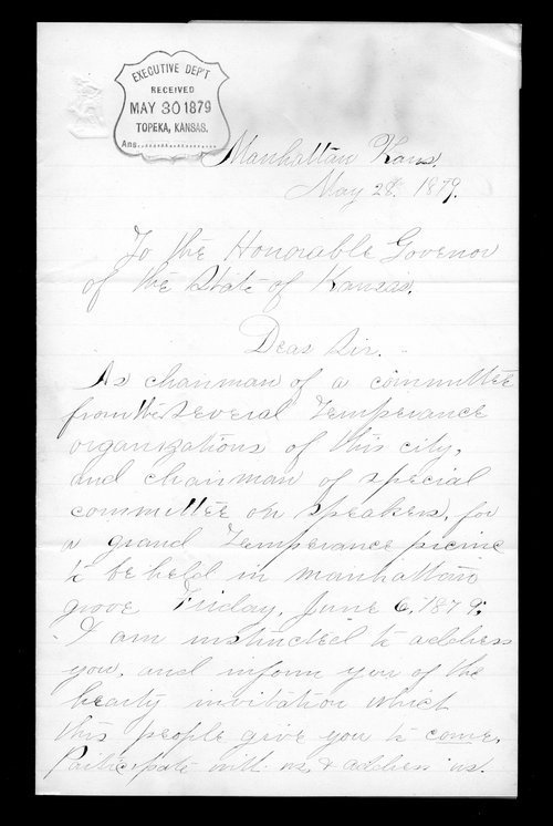Charles D. Marvin to Governor John St. John - Page