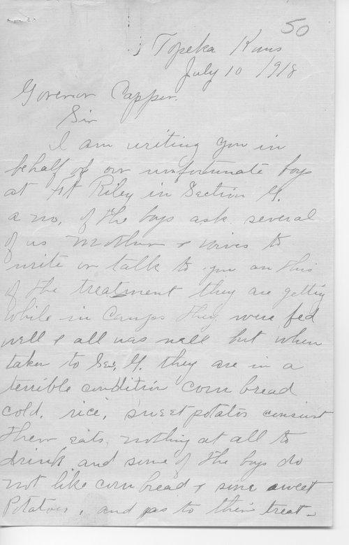 Conditions at Camp Funston correspondence - Page