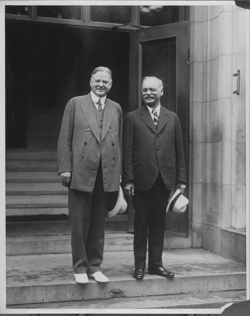 Herbert Clark Hoover and Charles Curtis - Page