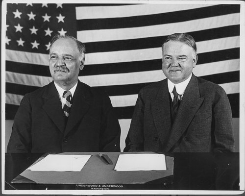 Charles Curtis and Herbert Clark Hoover - Page