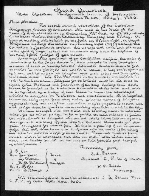 J.L. Palmer to Governor John St. John - Page