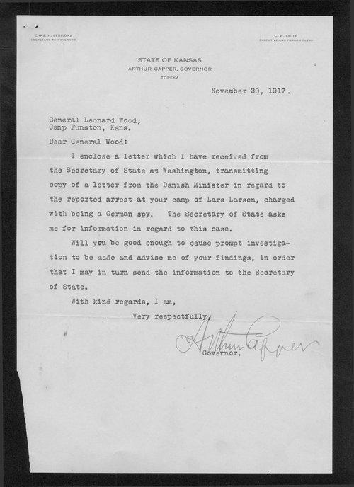 Lars Larsen correspondence - Page