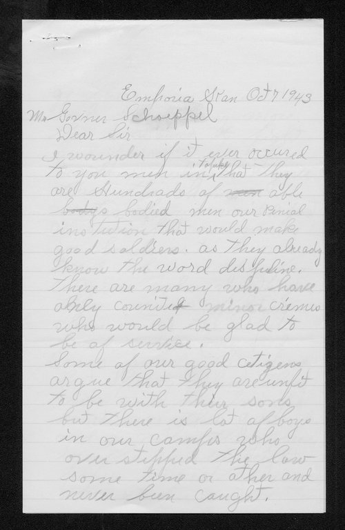 Governor Andrew Shoeppel correspondence - Page
