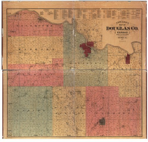 Edwards' map of Douglas County, Kansas - Page