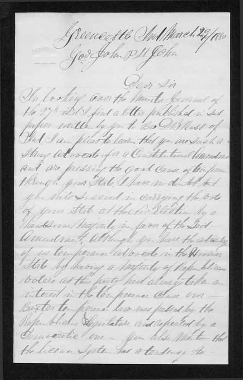 E. G. Connelly to Governor John St. John - Page