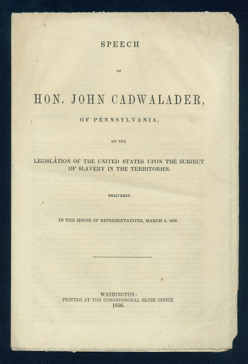 Speech of Congressman John Cadwalader - Page