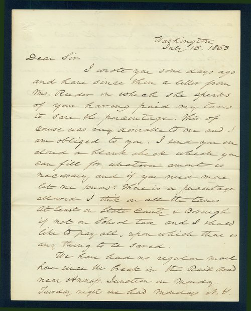 Andrew Horatio Reeder to unknown man - Page