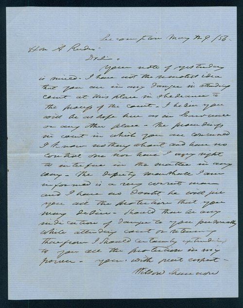 Wilson Shannon to Andrew Horatio Reeder - Page