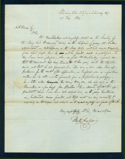 Thomas Hartley Crawford to Andrew Horatio Reeder - Page