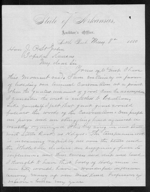 J. L. Palmer to Governor John St. John - Page