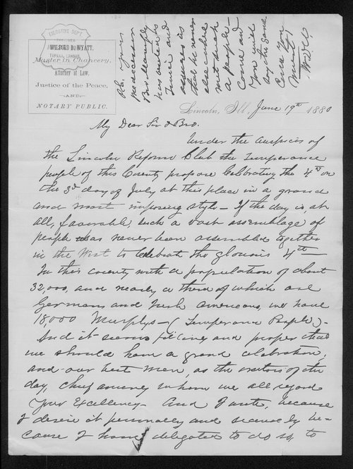 W. D. Wyatt to Governor John St. John - Page