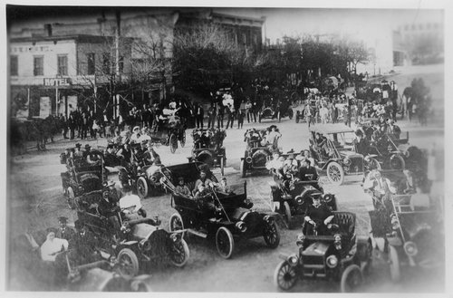 Automobiles on Main Street, Cimarron, Kansas - Page