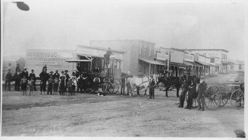 Business street in Ingalls, Kansas - Page