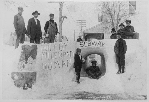 Snow tunnel, Cimarron, Kansas - Page