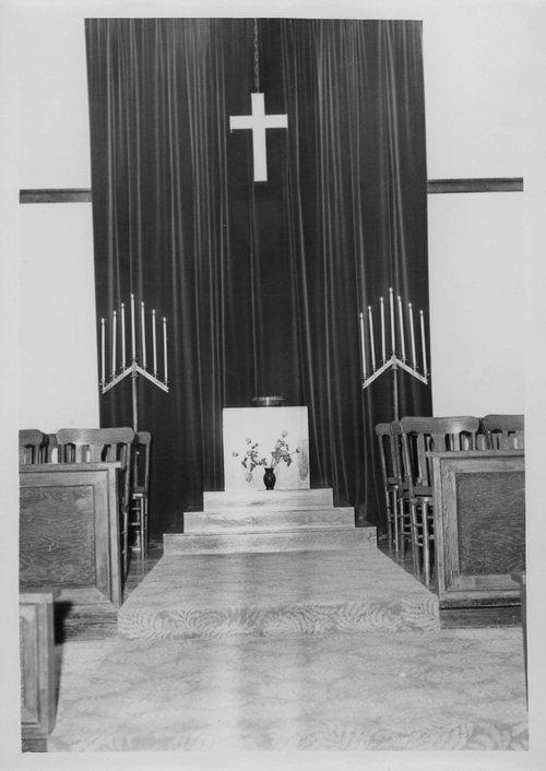 Church sanctuary, Cimarron, Kansas - Page