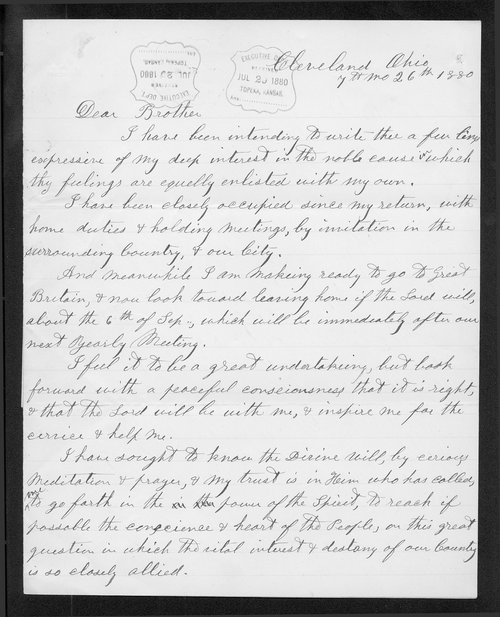 David Tatum to Governor John St. John - Page