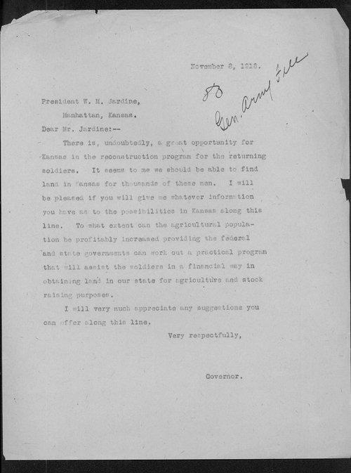 Arthur Capper to W.M. Jardine - Page