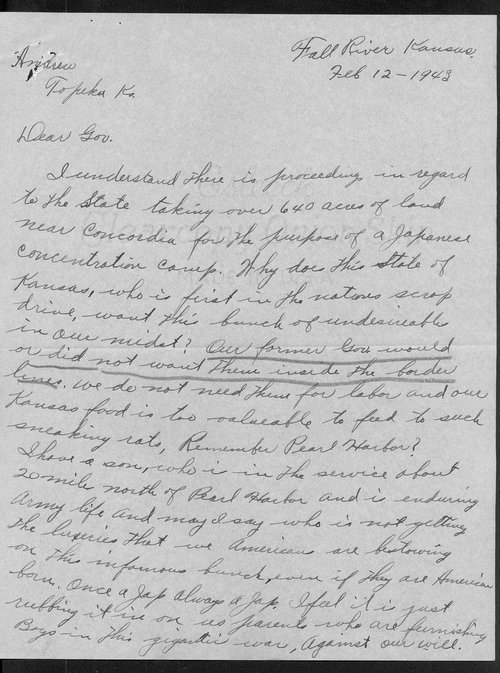 Avis Atkinson and Governor Andrew Schoeppel coresspondence - Page