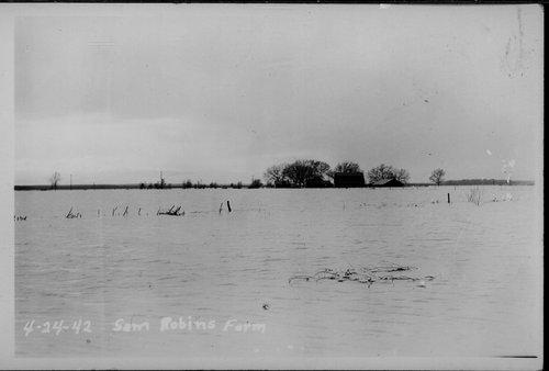 Flooding on Sam Robins' farm, Gray County, Kansas - Page