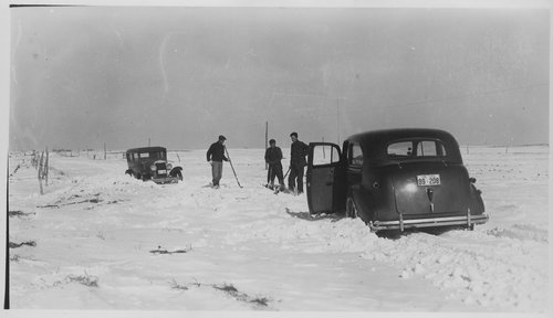 Shoveling snow, Gray County, Kansas - Page