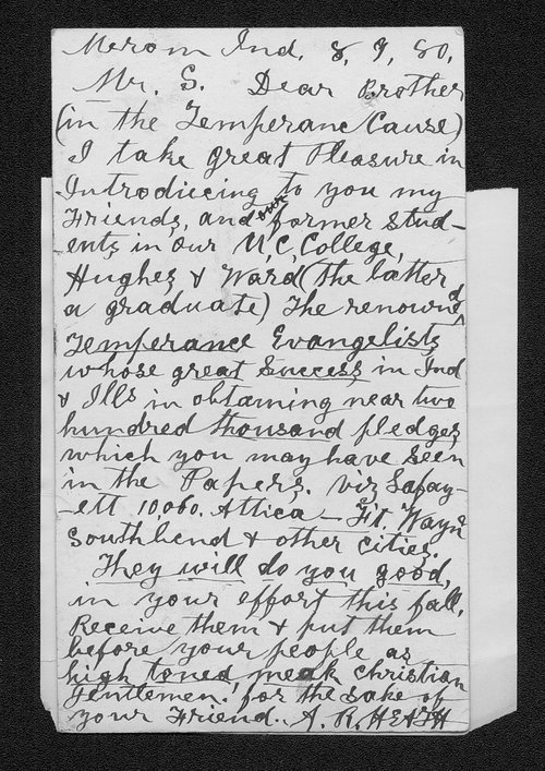 A. R. Hearst to Governor John St. John - Page