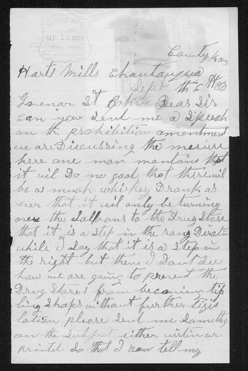 Martha Boyer to Governor John St. John - Page