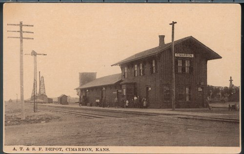 Atchison, Topeka and Santa Fe Railway Company depot, Cimarron, Kansas - Page