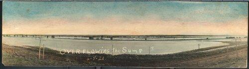 Overflowing the sump, Arkansas River, Cimarron, Kansas - Page