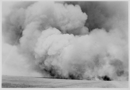 Fire in a Gray County field, Kansas - Page