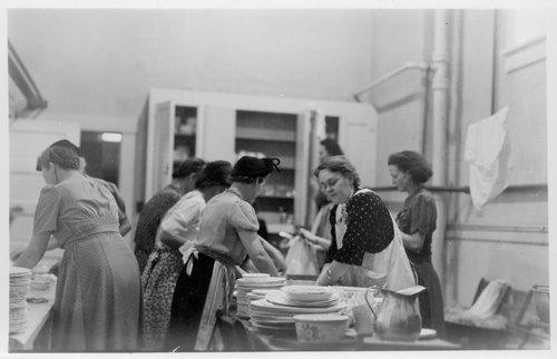 Women washing dishes in Cimarron, Kansas - Page