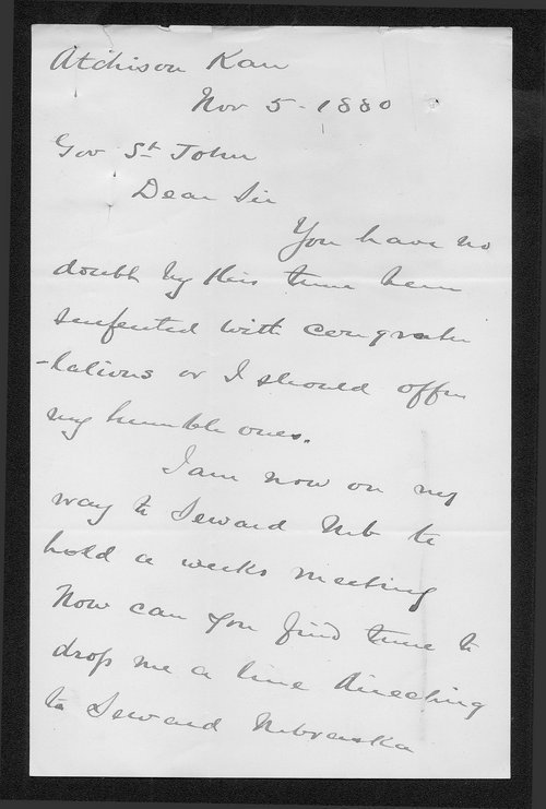 George Woodford to Governor John St. John - Page