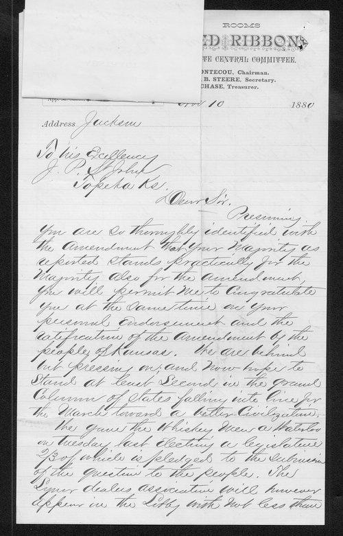J. C. Boutecou to Governor John St. John - Page