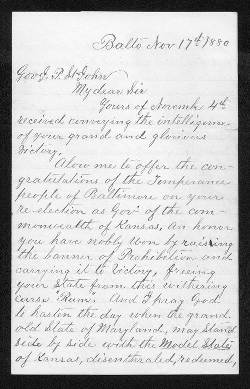 Robert Ireland to Governor John St. John - Page