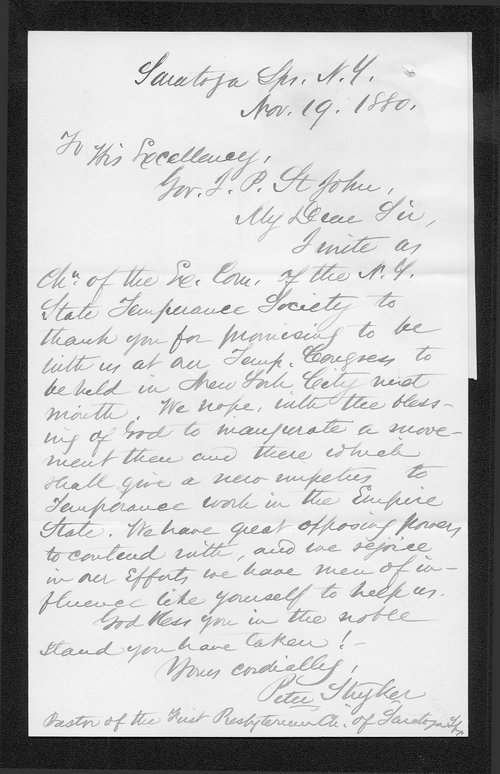 Peter Thyker to Governor John St. John - Page