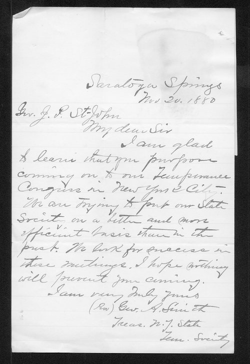 George A. Smith to Governor John St. John - Page