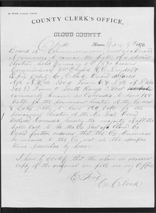 Cloud County organization records - Page