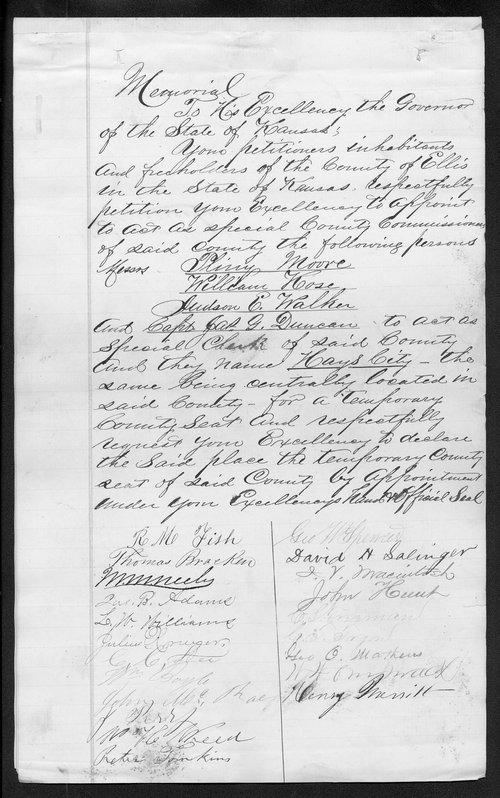 Ellis County organization records - Page