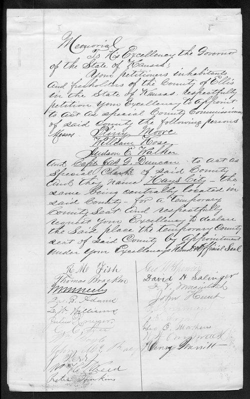 Ellis County organization records - Page