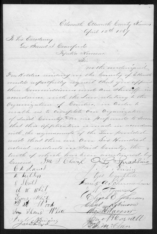 Ellsworth County organization records - Page